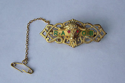 RAOB jewel / medal Antediluvian Buffaloes hallmarked badge tie pin and others