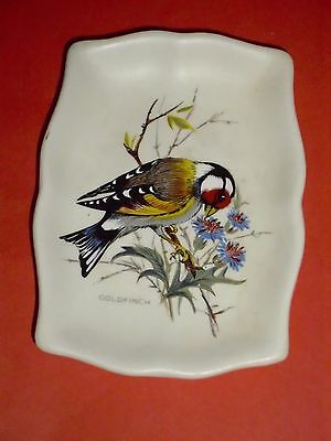 Axe Vale Pottery Pin Dish With Goldfinch Design