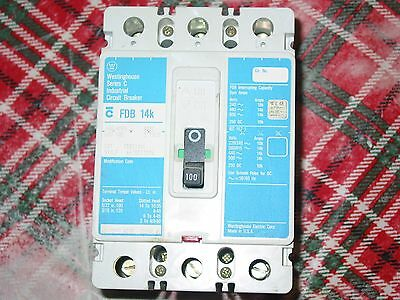 Westinghouse FDB3100L 100A Circuit Breaker Cutler-Hammer 100 Amp 600V