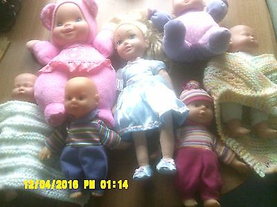 """Doll By Zapf Creations 13"""" High+ 6 Other Soft Bodied Dolls"""