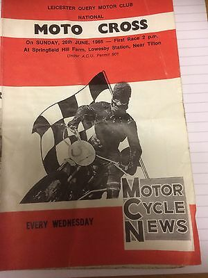Leicester Query Scramble Programme June 26th 1966