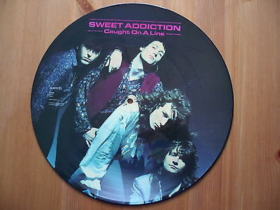 "Sweet Addiction - Caught On A Line - 12"" Vinyl Picture Disc Single"