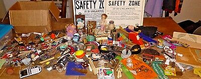 Huge Junk Drawer Lot Vintage Antique Items Tins Toys Jewelry Books SEE PHOTOS