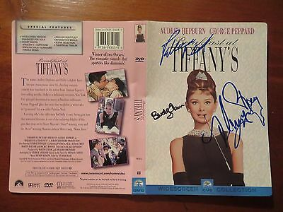 Signed Autographed DVD Cover Breakfast At Tiffany's - Buddy Ebsen, Neal, Rooney