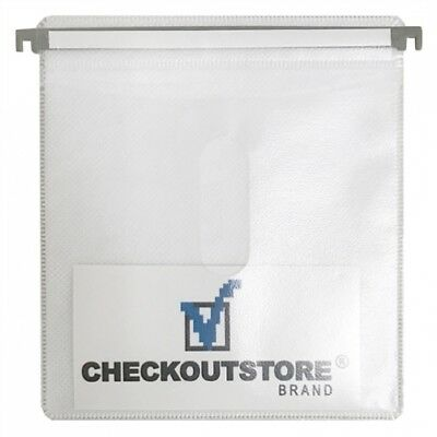 100 CD Double-sided Refill Plastic Hanging Sleeve White