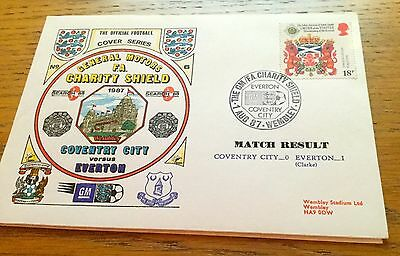 Football First Day Cover Football Fa Charity Shield Coventry City V Everton