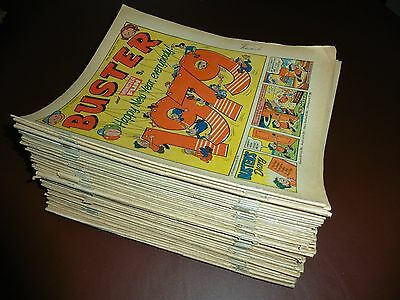 """Buster Comic-1979 JOB-LOT of 52 comics-""""Leopard from Lime Street"""""""