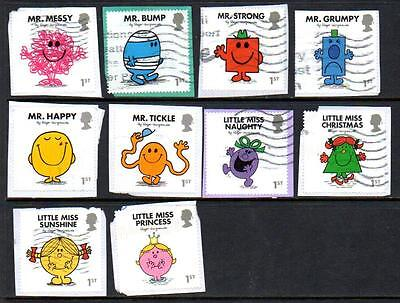 GB 2016 Mr Men and Little Miss set, fine used on-paper.