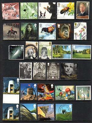 GB very recent high value commemoratives - 27 different.