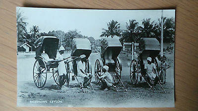 rickshaws ceylon postcard hiring , plate ltd publisher