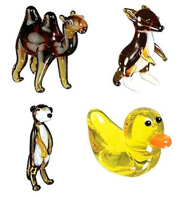 Looking Glass Torch Figurines - Duck, Kangaroo, Camel, Meerkat  (4-Pack)