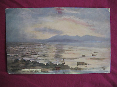 "Postcard. Tuck. ""Oilette""  Isle of Arran, Sunset.. No.7335. unused"