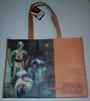 """Star Wars Bb-8 Disney ** Large Recycled Shopper Tote 16"""" X 12"""" ** See My Store"""