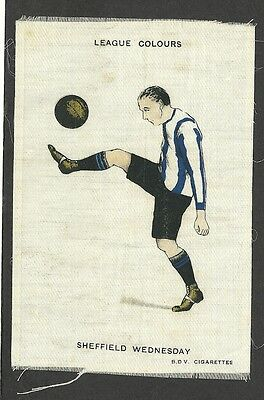Original Old Bdv Sheffield Wednesday, Postcard Size, Football Colours 1920