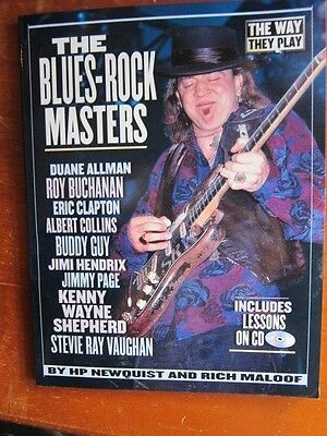 Blues rock masters Stevie Ray Vaughan Clapton Buddy Guy Hendrix Jimmy Page etc