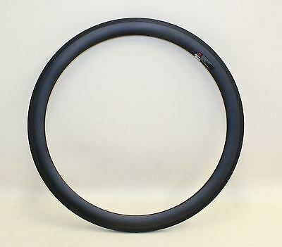 NEW 50mm Bicycle Deep Carbon Clincher Bike Rim 440g 24 Spoke Hole 23mm wide 700c