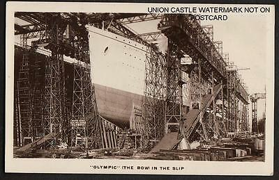 Postcard White Star Line Ss Titanic & Olympic On Stocks Belfast Ireland 1910