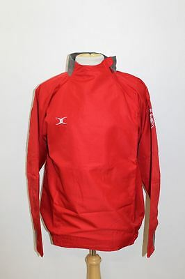 BNWT GILBERT Men's Red Light Weight Long Sleeve Crew Neck Rugby Jacket Size L
