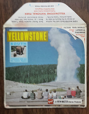 Yellowstone - 21 View-Master Stereo Pictures on 3 Picture Reels with Booklet