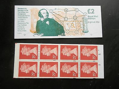 Fw6 Rowland Hill Secretary Of The Post Office £2 Machin Machine Stamp Booklet