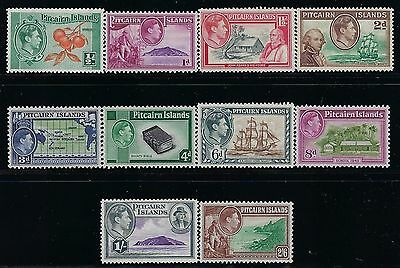 PITCAIRN (BRITISH) 1940 Sct #1-#8, S/G #1-#8,  Mint/NH  FOG   COMPLETE KGVI SET