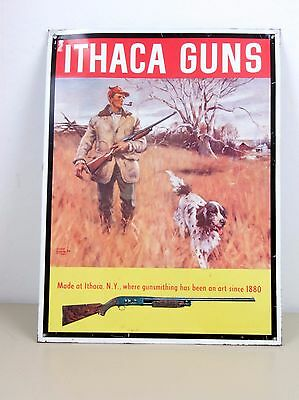 Ithica Guns Reproduction Tin Sign