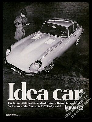 1969 Jaguar XKE XK-E coupe photo Idea Car vintage print ad