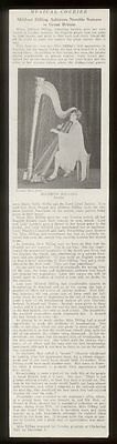 1926 Mildred Dilling & harp photo in UK vintage print article