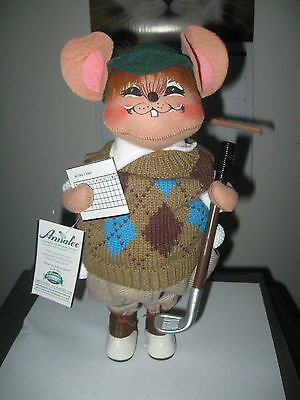"Annalee 12"" Golfer Mouse - Mint - 291204 With Tag"