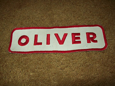 "9 1/2"" Wide Oliver Tractor Cloth Jacket Patch Red And White Farm Machinery"
