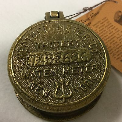 Neptune Meter Co Trident Water Meter Cap Cover New York Number 734895 Backward