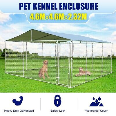 New Dog Kennel Pet Enclosure Play Pen Puppy Run Exercise Fence Cage Playpen