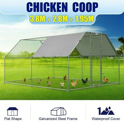 Large Chicken Coop Backyard Hen House Cage Run Outdoor Cage Enclosure