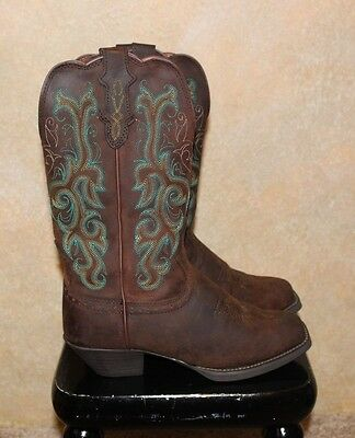 """NWB Justin ladies Cowboy Boots and Size 6 NEW Sorrel Apache 12"""""""