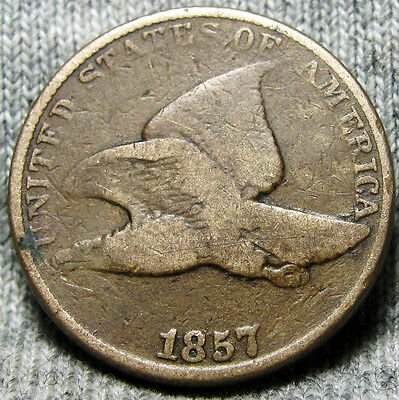 1857 Flying Eagle Cent ---- Type Penny ---- #O487