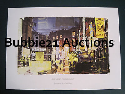 Ready to Frame Blade Runner Art Portfolio With Storyboards Syd Mead