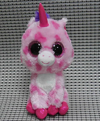 Soft TOY From TY BEANIES BOOS Unicorn Sugar Pie 6 INCH Stuffed toy PLEASE READ