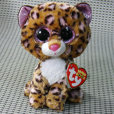 TY BEANIES BOOS ~Leopard patches 6 inch  Stuffed toy MINT Lovely Gift