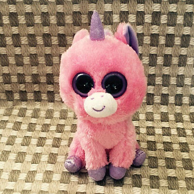 TY BEANIES BOOS Magic pink Unicorn Solid eye Stuffed toy Without heart tag
