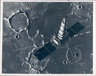 1964 NASA Astronaut Spacecraft Ranger 7 Flight Path Business Sky Press Photo