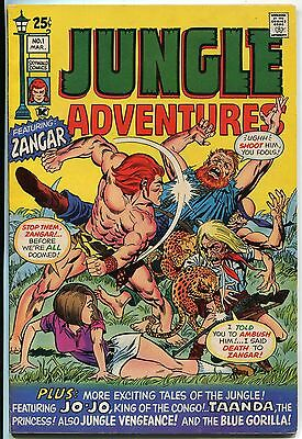 Vtg 1971 Jungle Adventures Comic #1 Skywald Higher Grade Zangar Jo-Jo