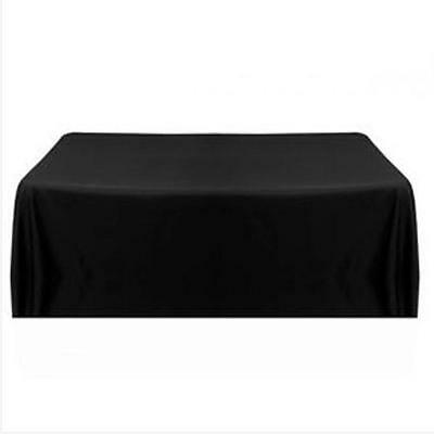Cover-Black Tablecloth Table Cover Satin for Banquet Wedding Party Decor 57''