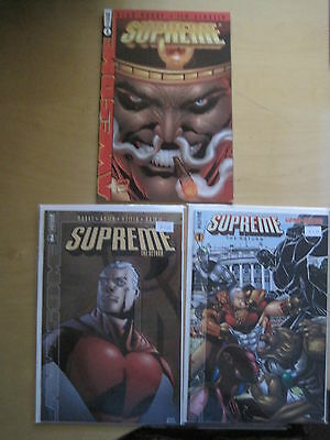 SUPREME, the RETURN : COMPLETE 3 ISSUE SERIES by ALAN MOORE, STARLIN etc.1999