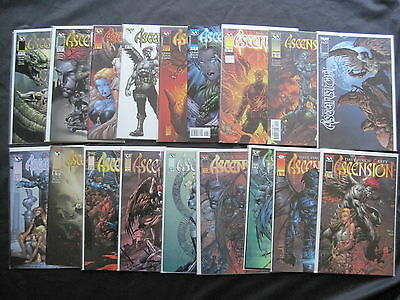ASCENSION : COMPLETE RUN OF #s 1 to 20. EROTIC GORE. DAVID FINCH. IMAGE. 1997