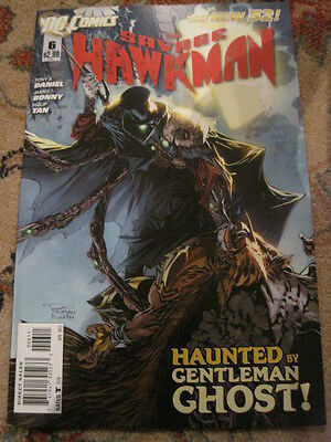 The SAVAGE HAWKMAN  #  6.  1st PRINT   THE NEW 52.     GREAT COVER !    DC. 2012