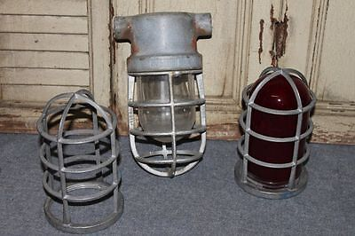 Vintage Explosion-proof Light Fixture Extra Cages Globe Industrial