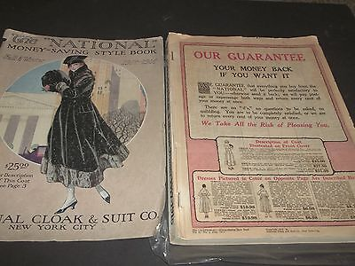Vintage The National Fashion Catalog Dresses Coats Furs Hats Shoes 1918 419 page