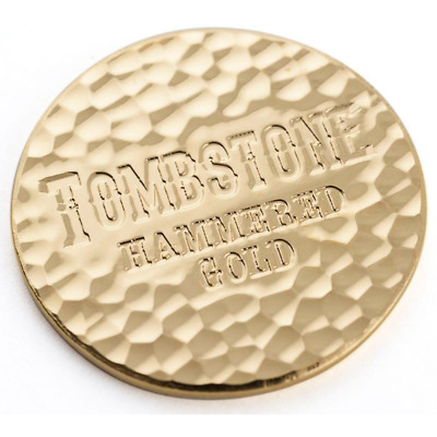 1 Troy oz Scottsdale Mint Hammered Gold Tombstone Round .9999 Fine