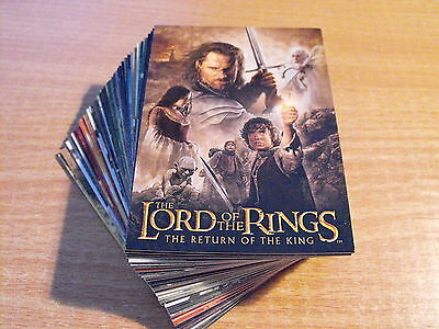 Lord Of The Rings Return Von King Neufassung Komplettes Basis-Set 72 Karten