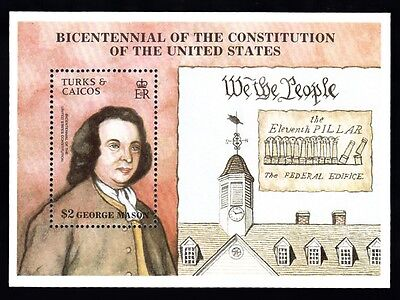 Turks & Caicos Bicentennial Constitution Of The United States George Masos FM110